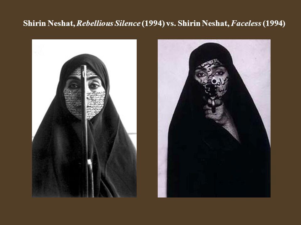 Shirin Neshat, Rebellious Silence (1994) vs. Shirin Neshat, Faceless (1994)