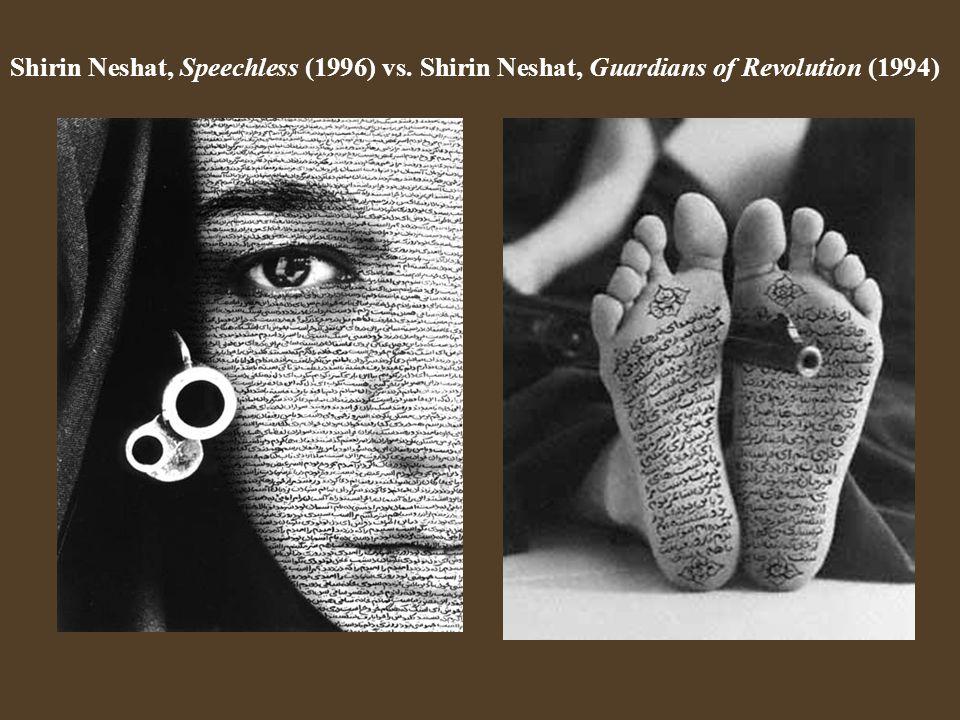 Shirin Neshat, Speechless (1996) vs. Shirin Neshat, Guardians of Revolution (1994)