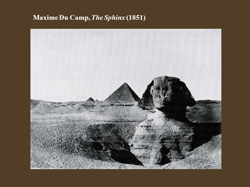 Maxime Du Camp, The Sphinx (1851)
