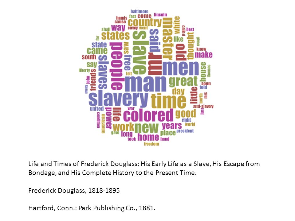 Life and Times of Frederick Douglass: His Early Life as a Slave, His Escape from Bondage, and His Complete History to the Present Time. Frederick Doug