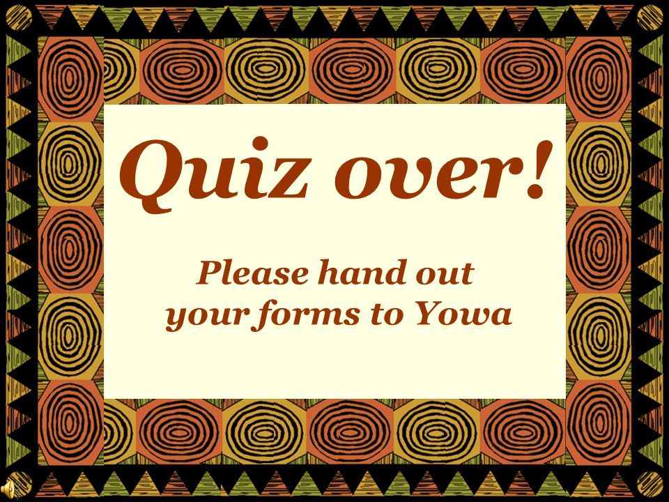 Question 20: What do Ghana, Ivory Coast, Togo, Angola and Tunisia have in common?