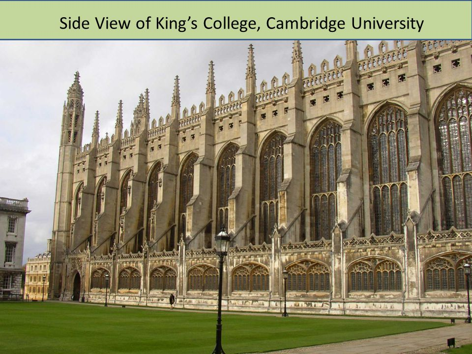 Side View of King's College, Cambridge University