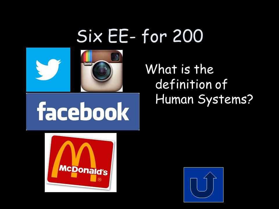Six EE- for 200 What is the definition of Human Systems?