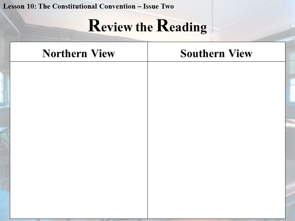 R eview the R eading Northern ViewSouthern View
