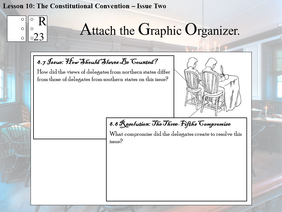 Lesson 10: The Constitutional Convention – Issue Two A ttach the G raphic O rganizer.