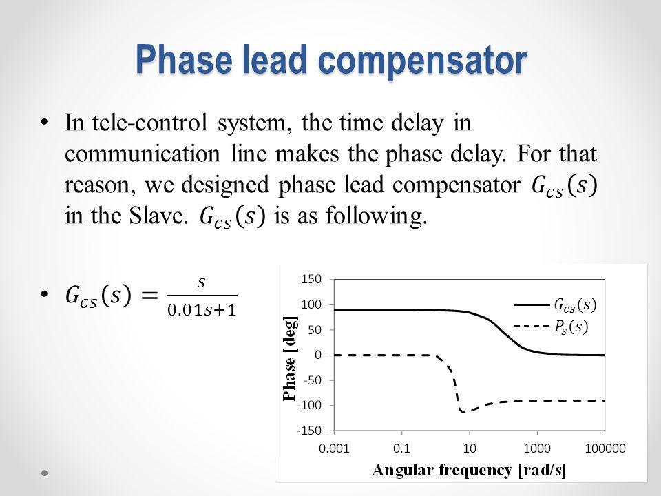 Phase lead compensator