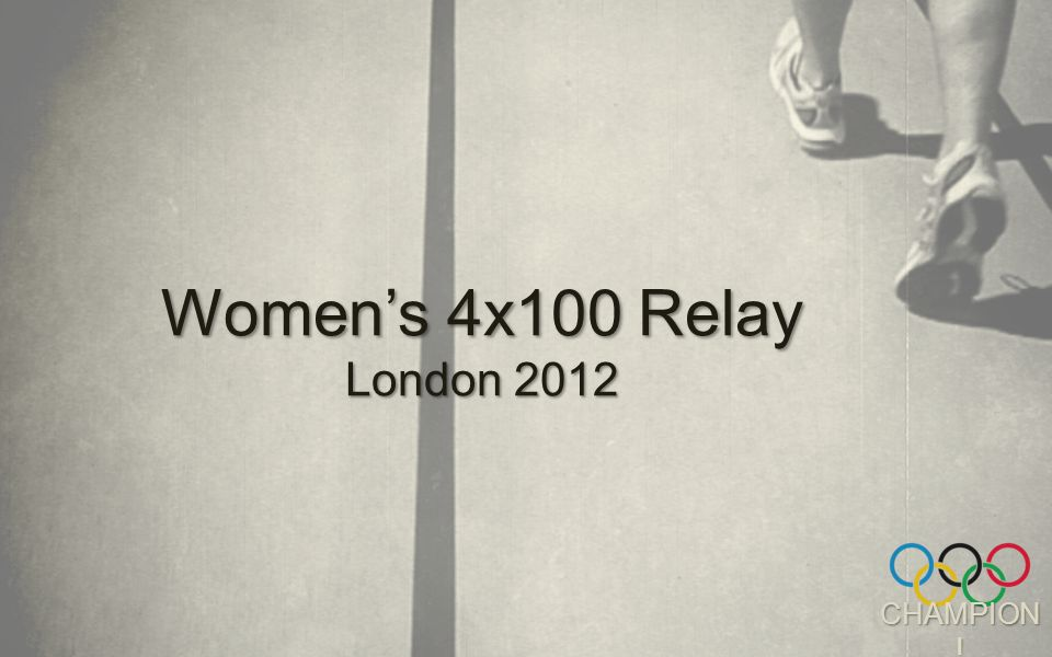 CHAMPION ! Women's 4x100 Relay London 2012