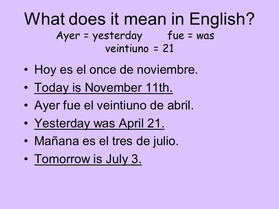 La fecha. (the date) Vocab. You need to learn know… hoy, es, mañana, de, qué, la semana, el día.