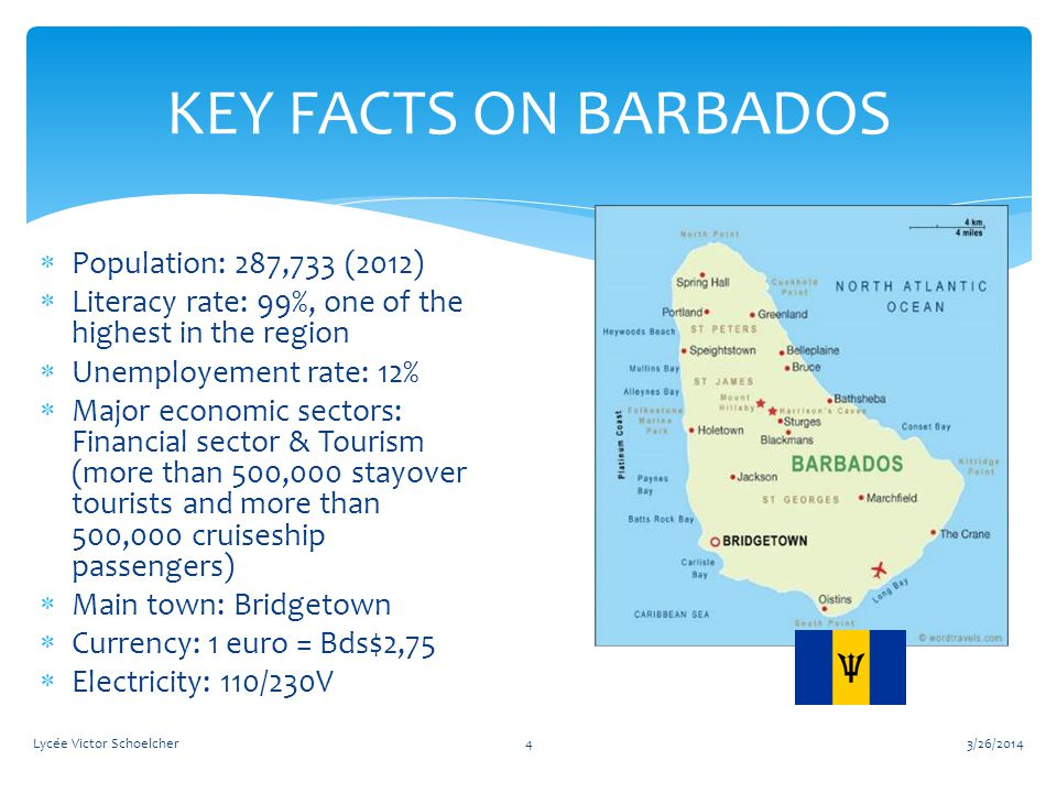 3/26/2014Lycée Victor Schoelcher15 Wednesday 5th: visiting Barbados Community College ( Uni campus) Tertiary education at Barbados Community College providing a wide choice of departments: -foreign languages -fine arts -literature… We spent the day in a French class, where our group made presentations on Martinique (in English of course…..)