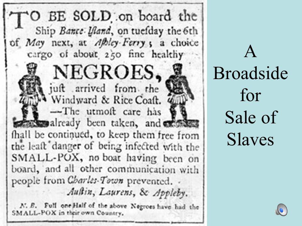 A Broadside for Sale of Slaves