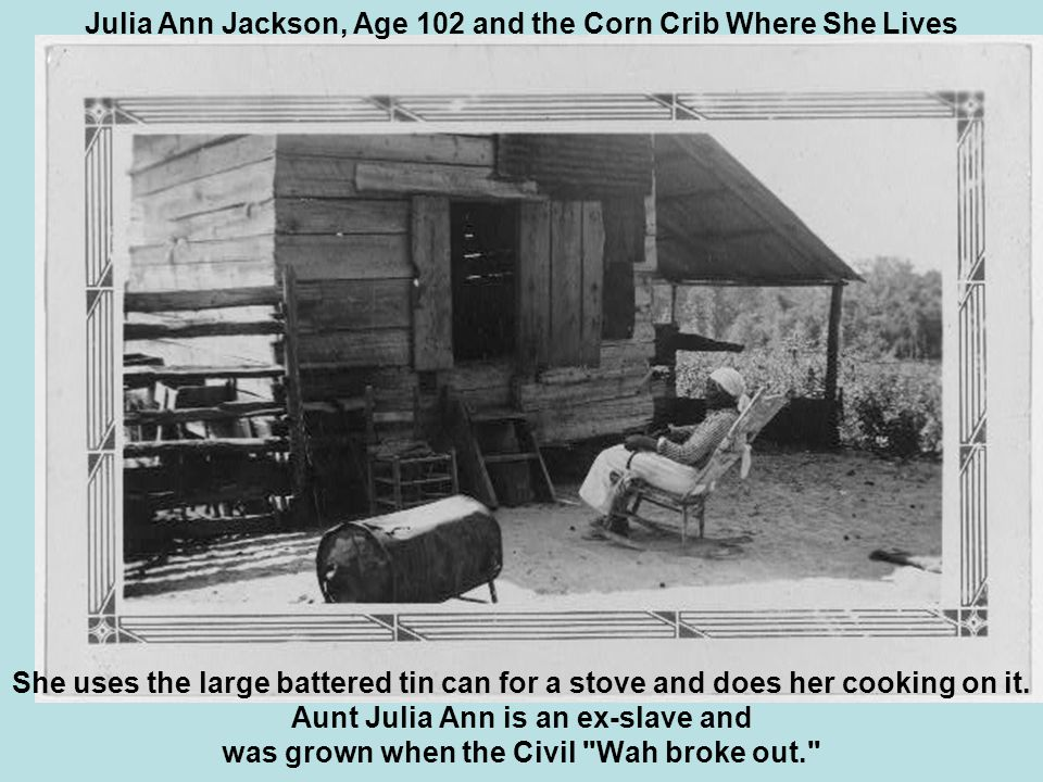 She uses the large battered tin can for a stove and does her cooking on it.