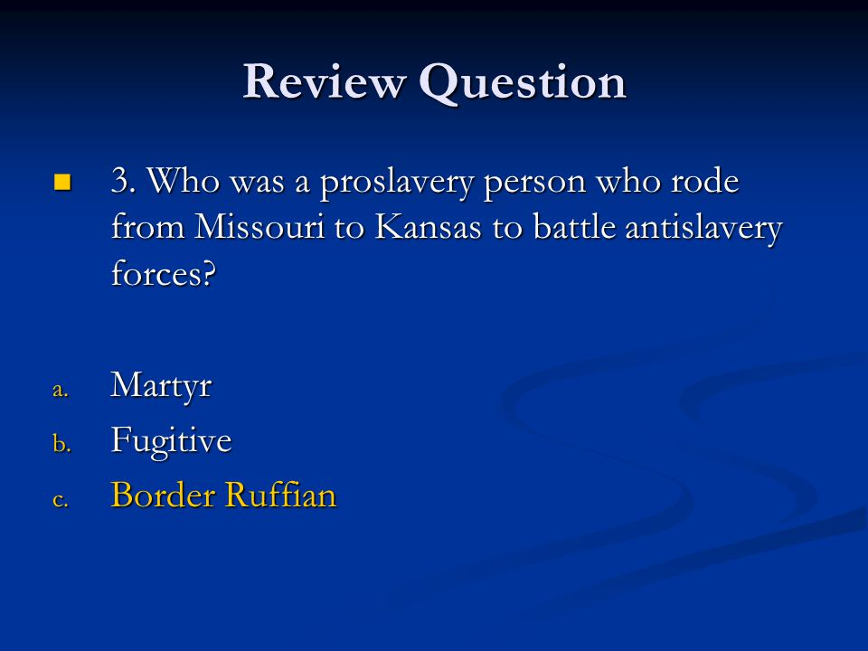 Review Question 4.What compromise did Henry Clay propose for admitting Missouri to the Union.