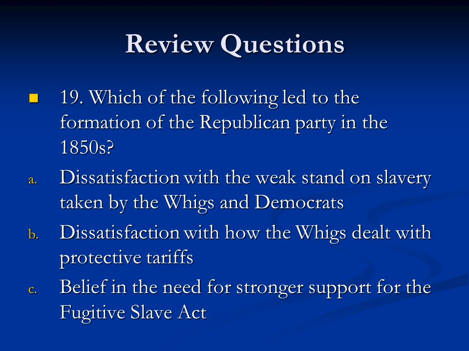 Review Questions 19.