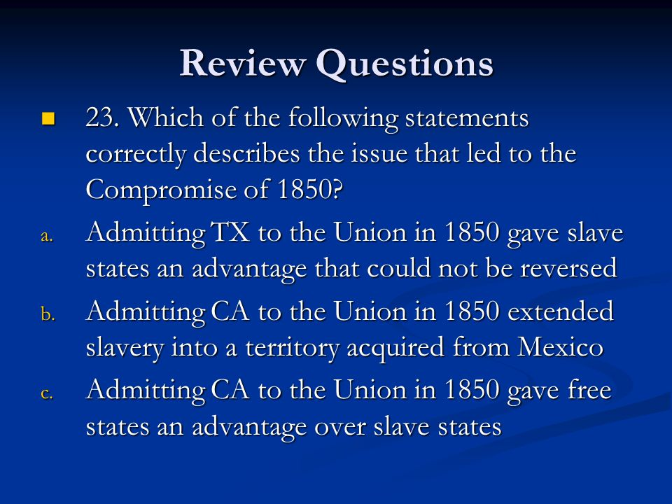 Review Questions 23.