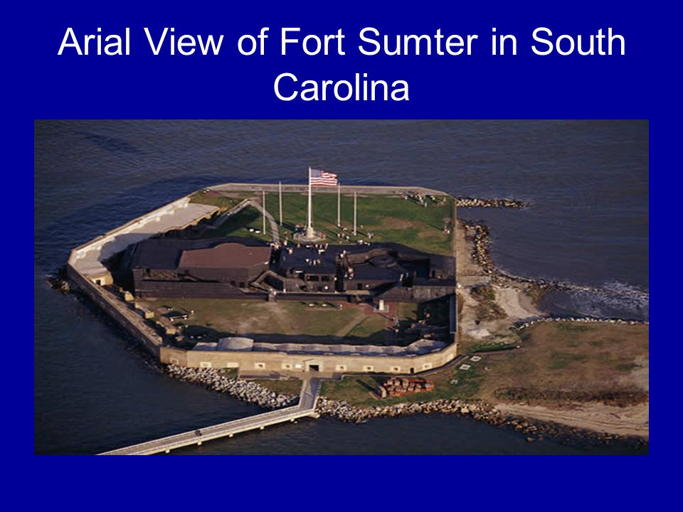 Arial View of Fort Sumter in South Carolina