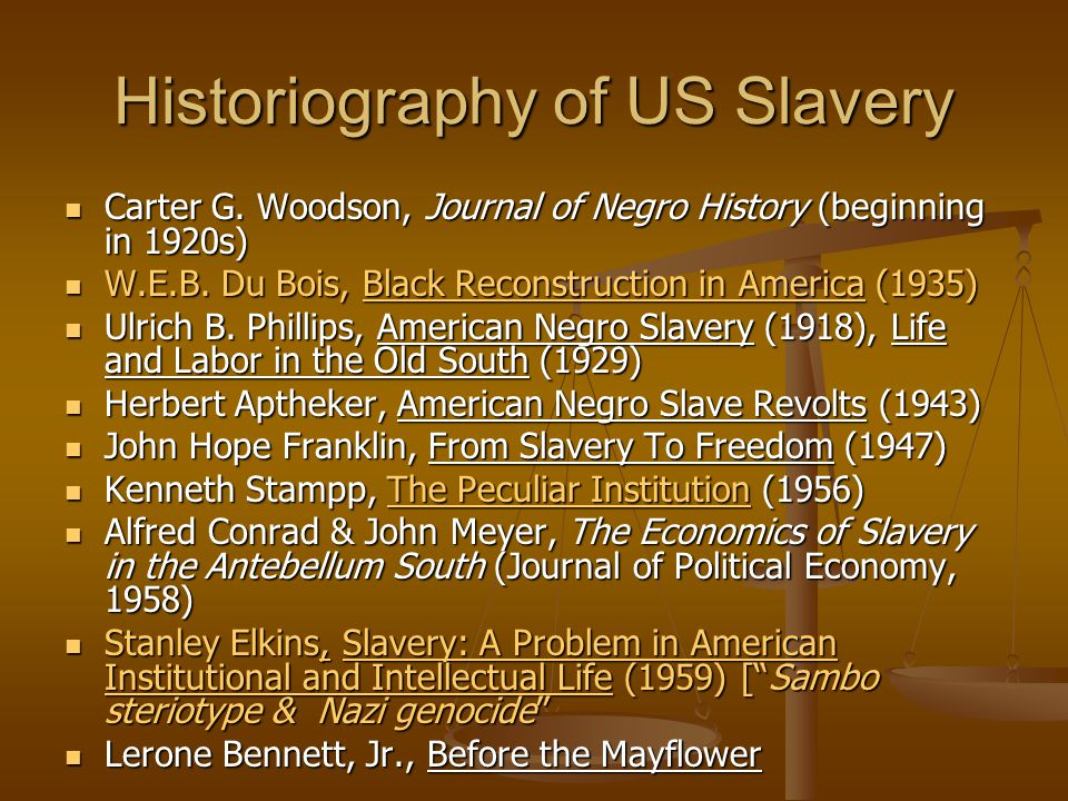 The Shock of Enslavement Enslavement was a unfathomable shock.