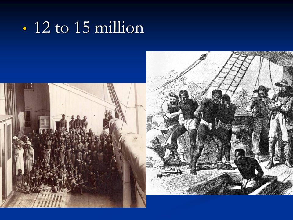 12 to 15 million 12 to 15 million