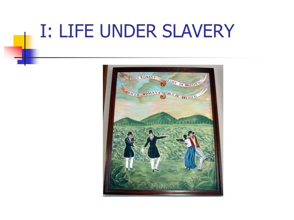 I: LIFE UNDER SLAVERY
