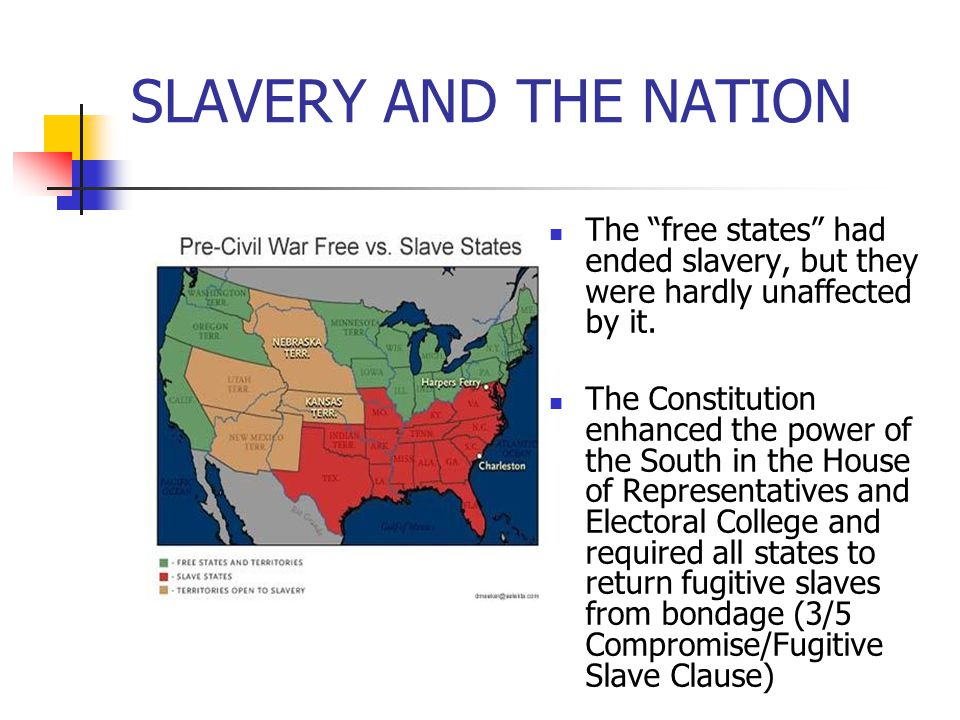 THE SOUTHERN WHITE MAJORITY 75% of white Southerners owned no slaves.