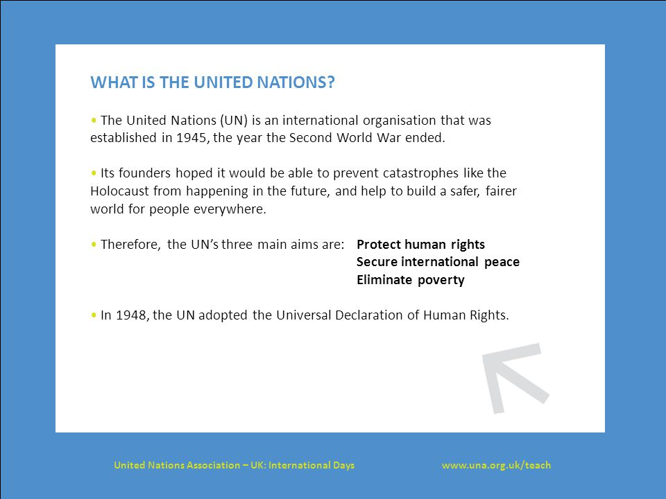THE UNIVERSAL DECLARATION OF HUMAN RIGHTS The United Nations Universal Declaration of Human Rights (UDHR) is the most famous human rights agreement in the world.