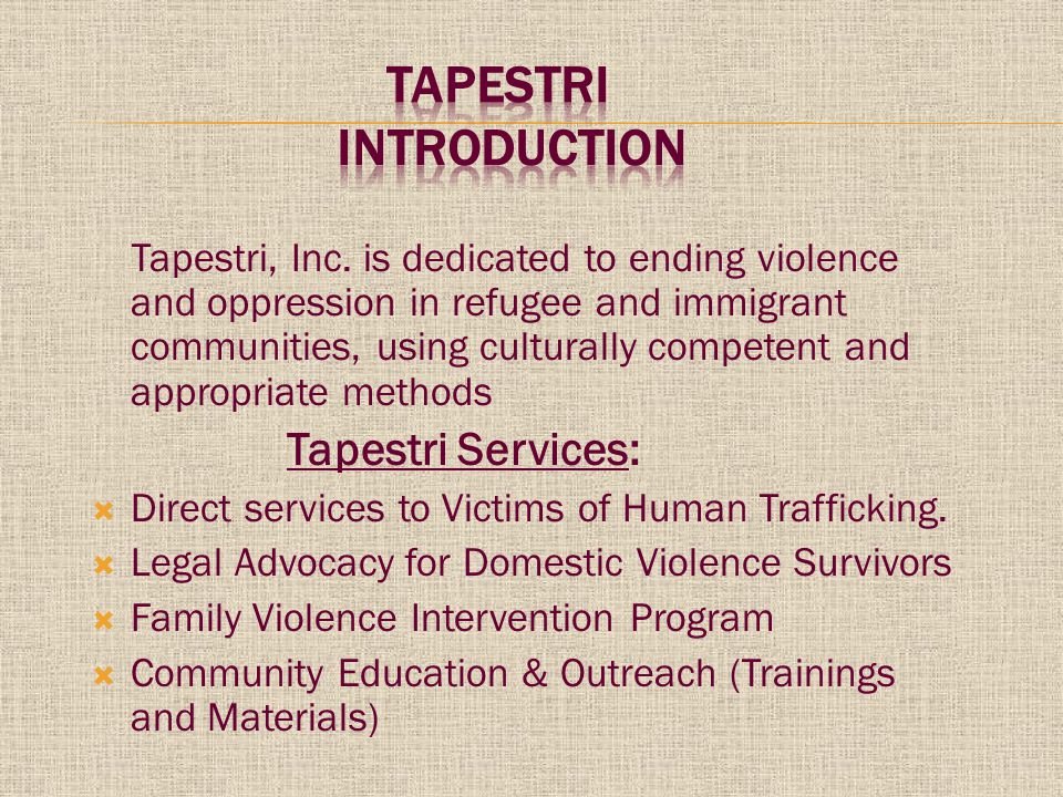 US law defines human trafficking as:  The recruitment, abduction, transport, harbouring, transfer, sale or receipt of persons for the purpose of exploitation.