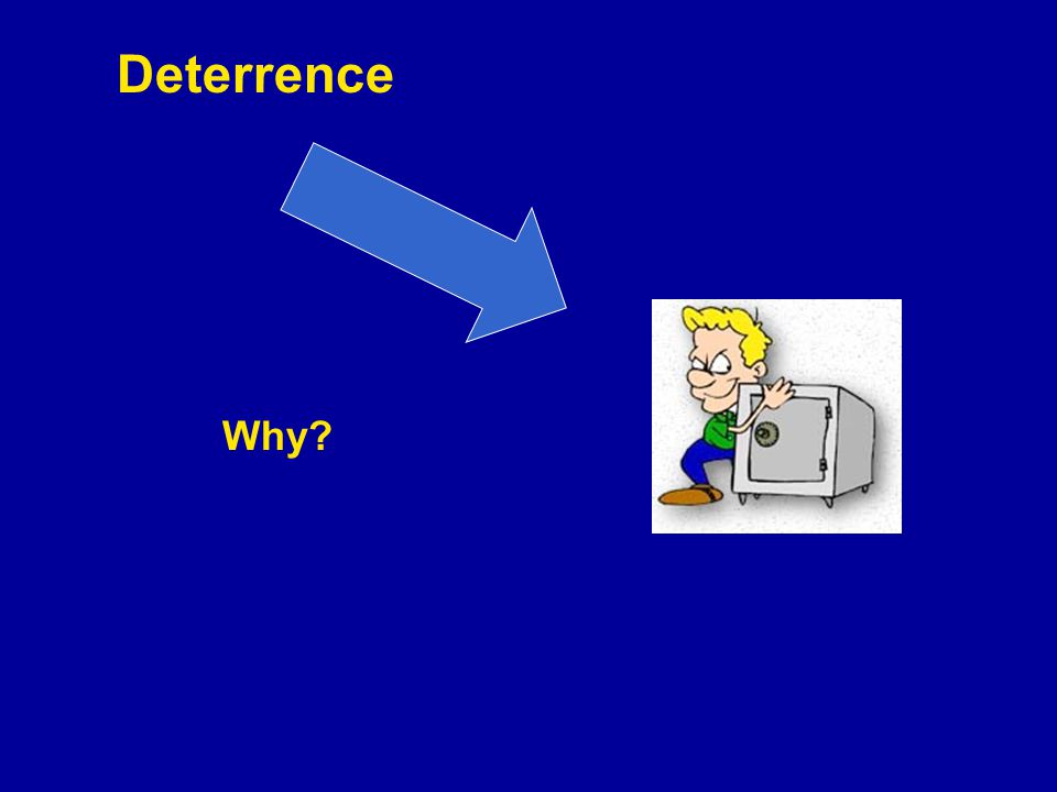 Deterrence Why?