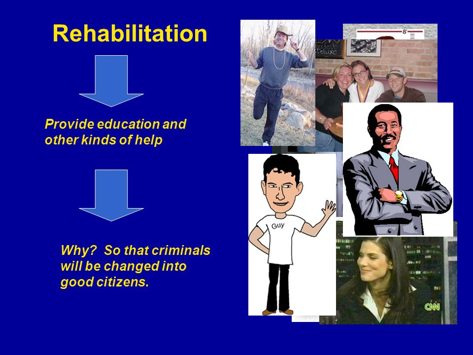 Rehabilitation Provide education and other kinds of help Why.