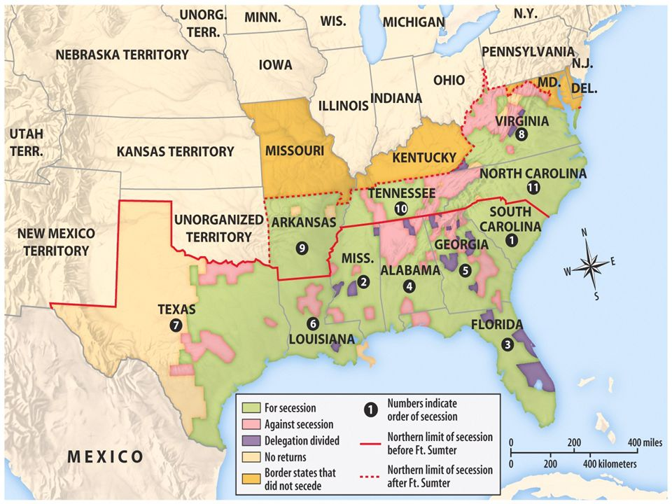 Election of 1860  Country is polarized (divided) over the issue of slavery.  Once Lincoln is elected as president, South Carolina will secede from t