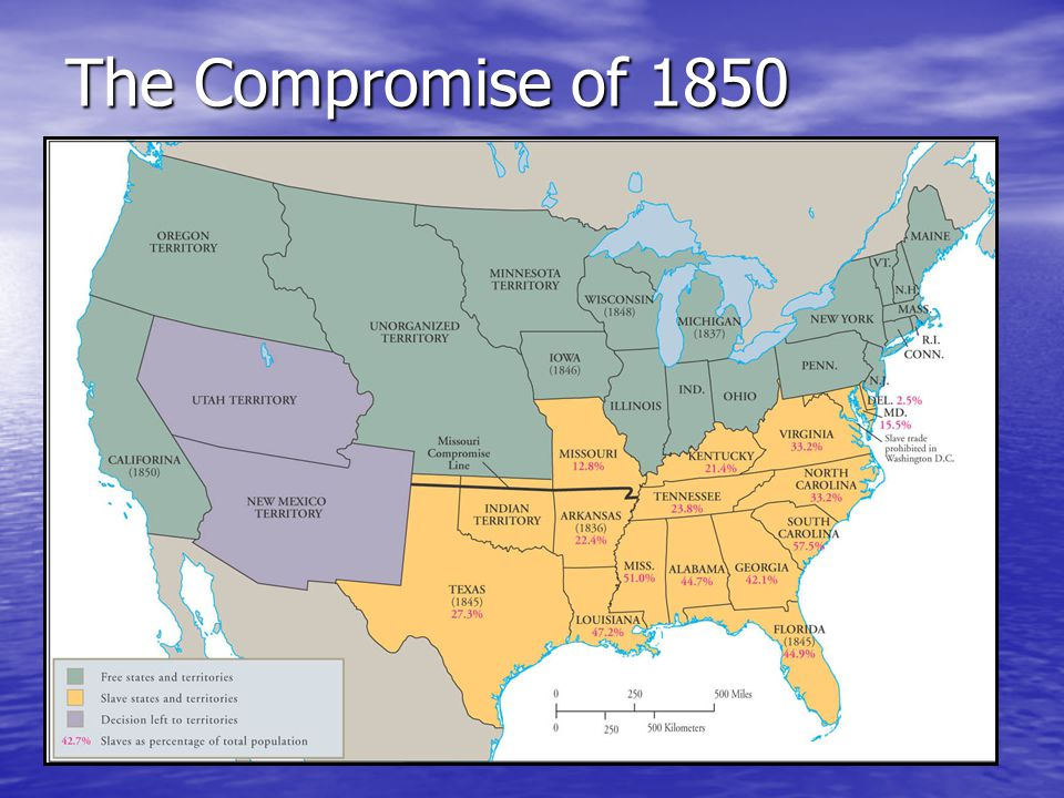 Kansas-Nebraska Act 1854 organized 2 new federal territories – Kansas and Nebraska What was controversial was the provision that stipulated that each territory would separately decide whether to allow slavery within its borders.