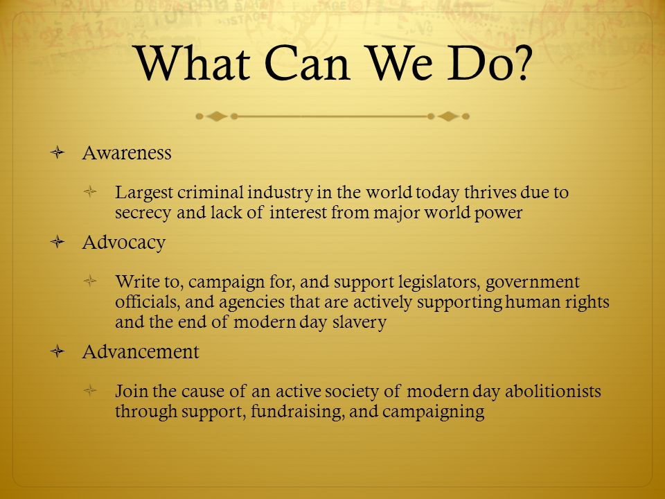 What Can We Do.