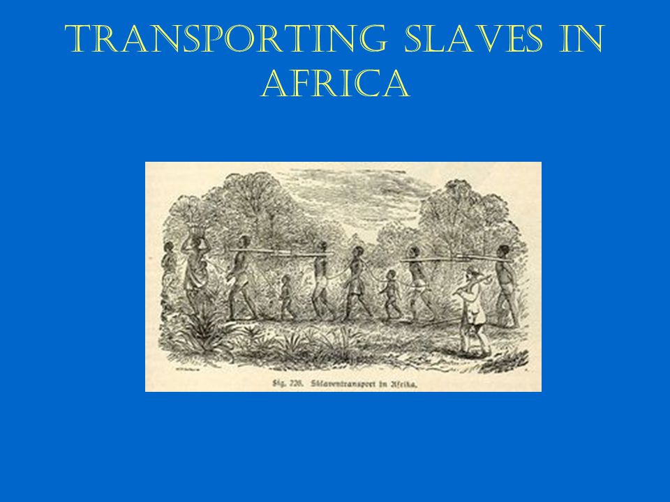 Transporting slaves in Africa