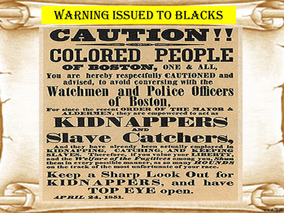 Warning issued to Blacks