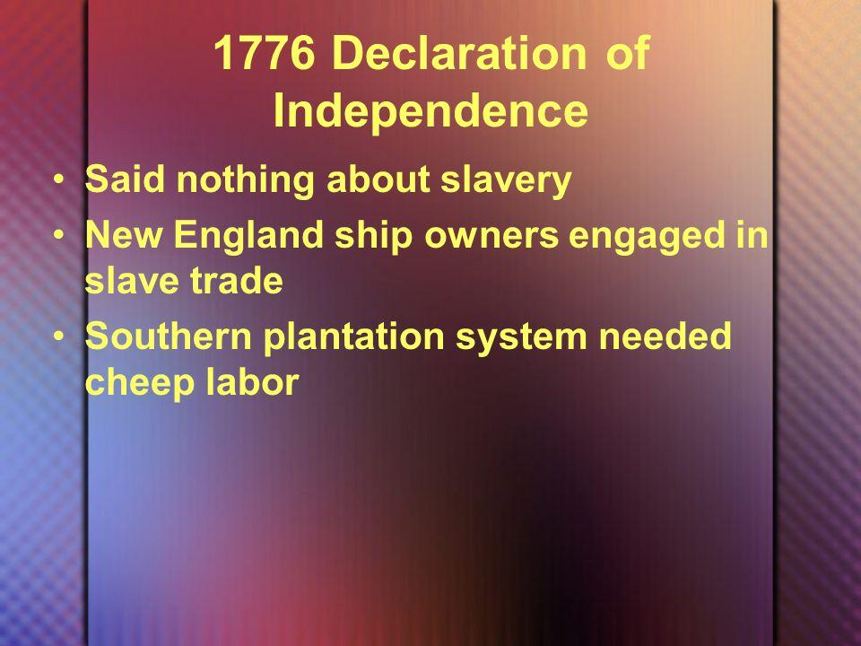 1787 Northwest Ordinance New territories of Ohio, Western Pennsylvania, Michigan and Illinois are closed to slavery