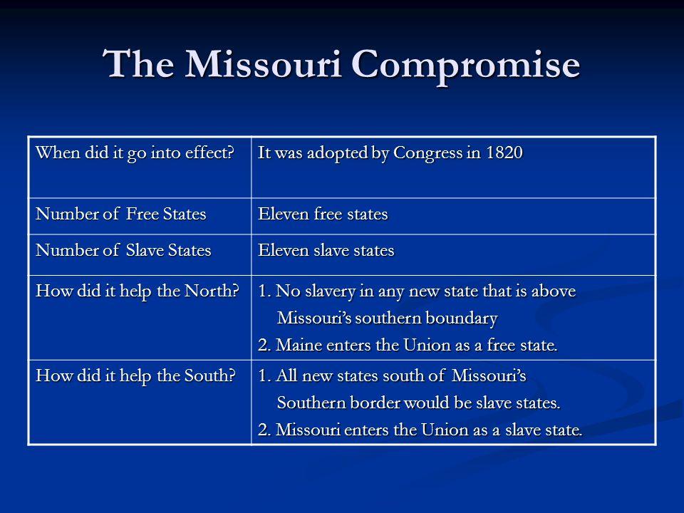 Visual – Missouri Compromise