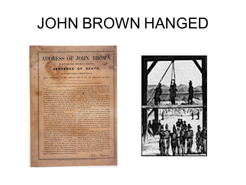JOHN BROWN HANGED