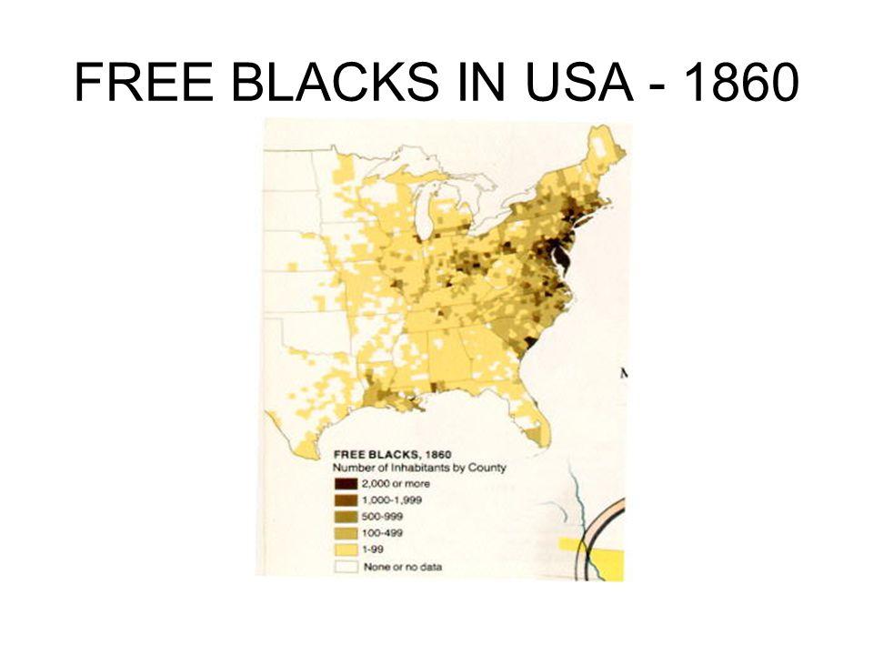 FREE BLACKS IN USA - 1860