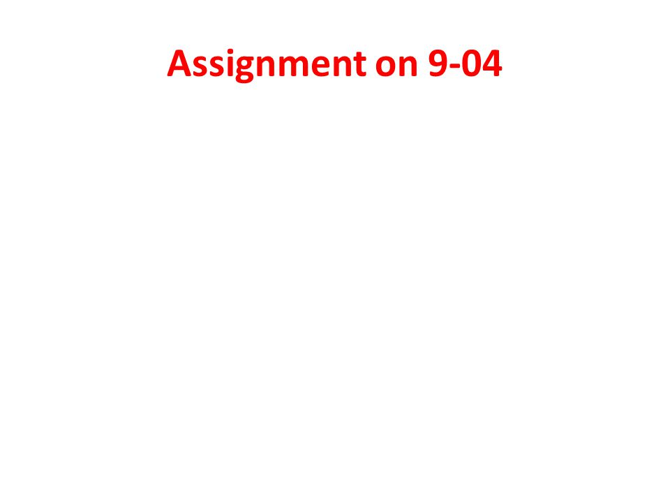 Assignment on 9-04