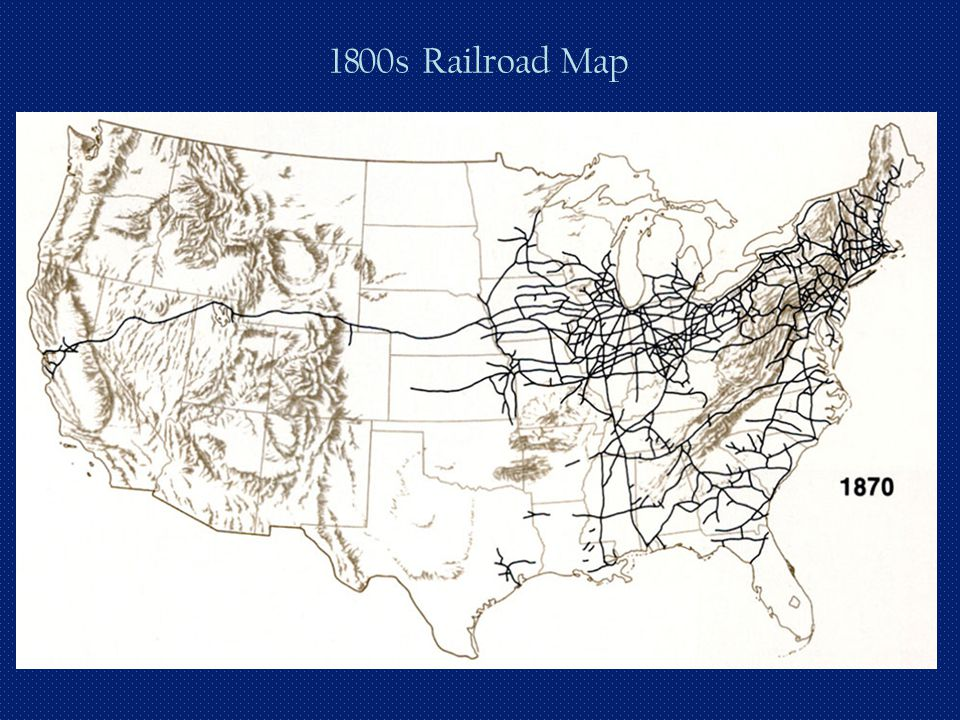 1800s Railroad Map