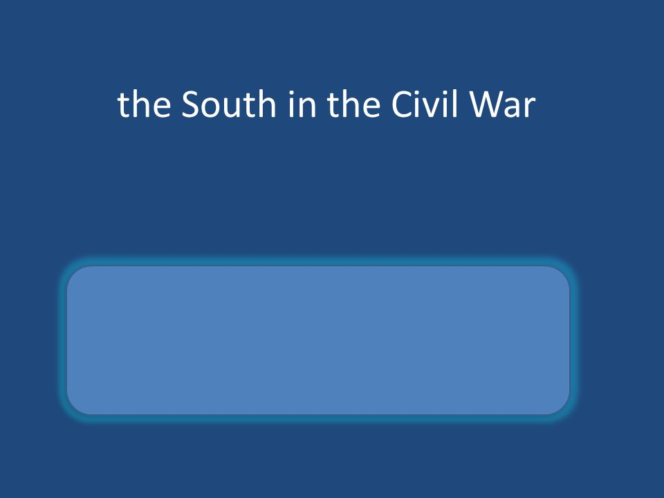 the South in the Civil War confederate