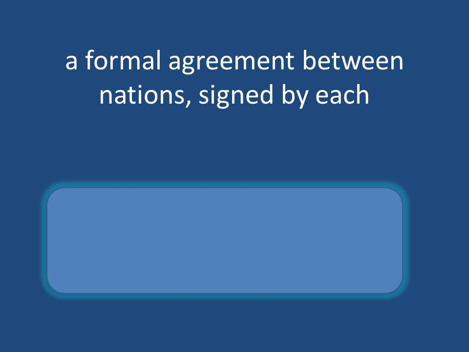 a formal agreement between nations, signed by each treaty