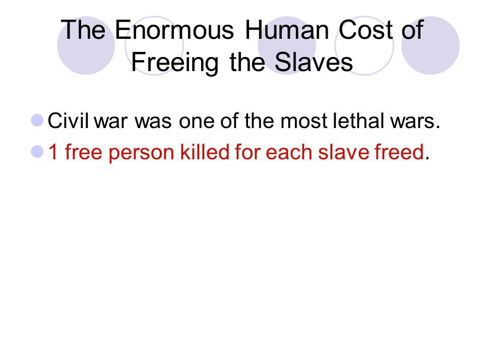 Monetary Cost of Civil War Estimated direct cost of the Civil War was $6.6 billion dollars.