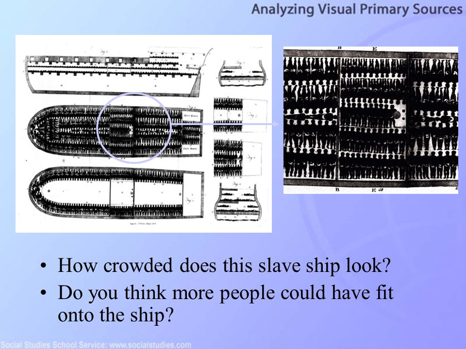 How crowded does this slave ship look? Do you think more people could have fit onto the ship?