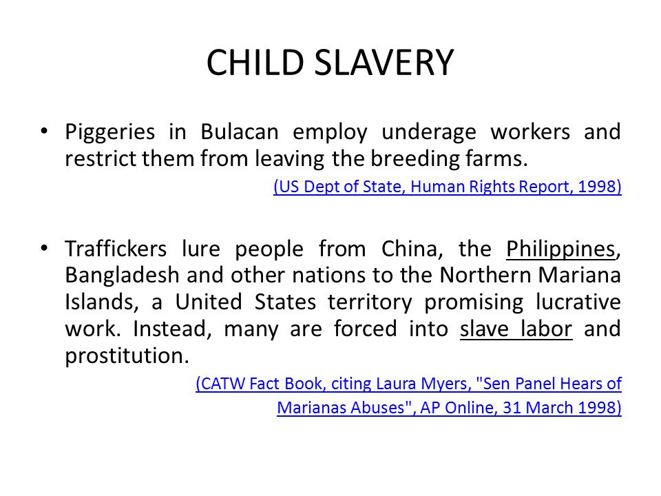CHILD SLAVERY Piggeries in Bulacan employ underage workers and restrict them from leaving the breeding farms.