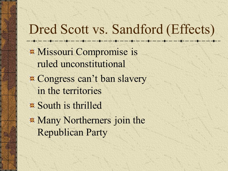 Dred Scott vs.