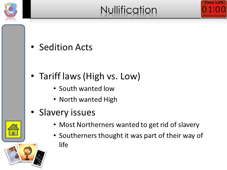 Issues become more and more regional in nature Slavery, tariffs, economics Industrial north Agricultural south