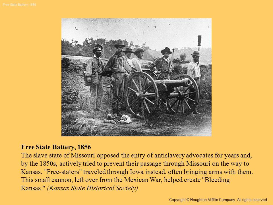 Map: Bleeding Kansas Copyright © Houghton Mifflin Company. All rights reserved.