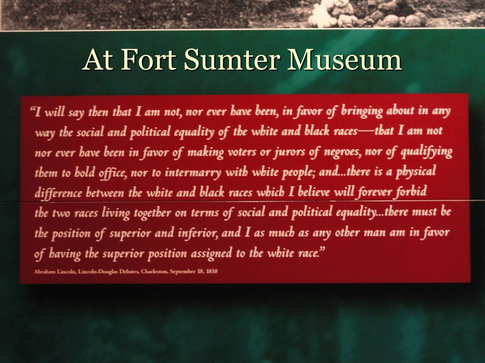 At Fort Sumter Museum