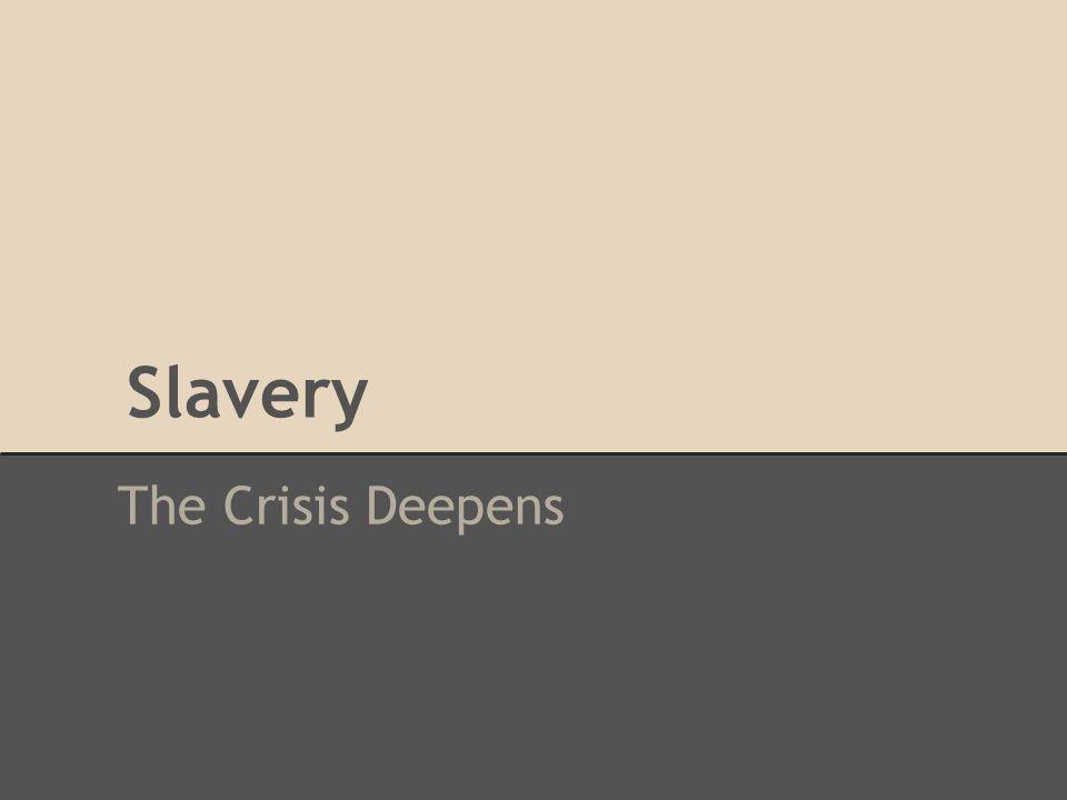 Slavery The Crisis Deepens