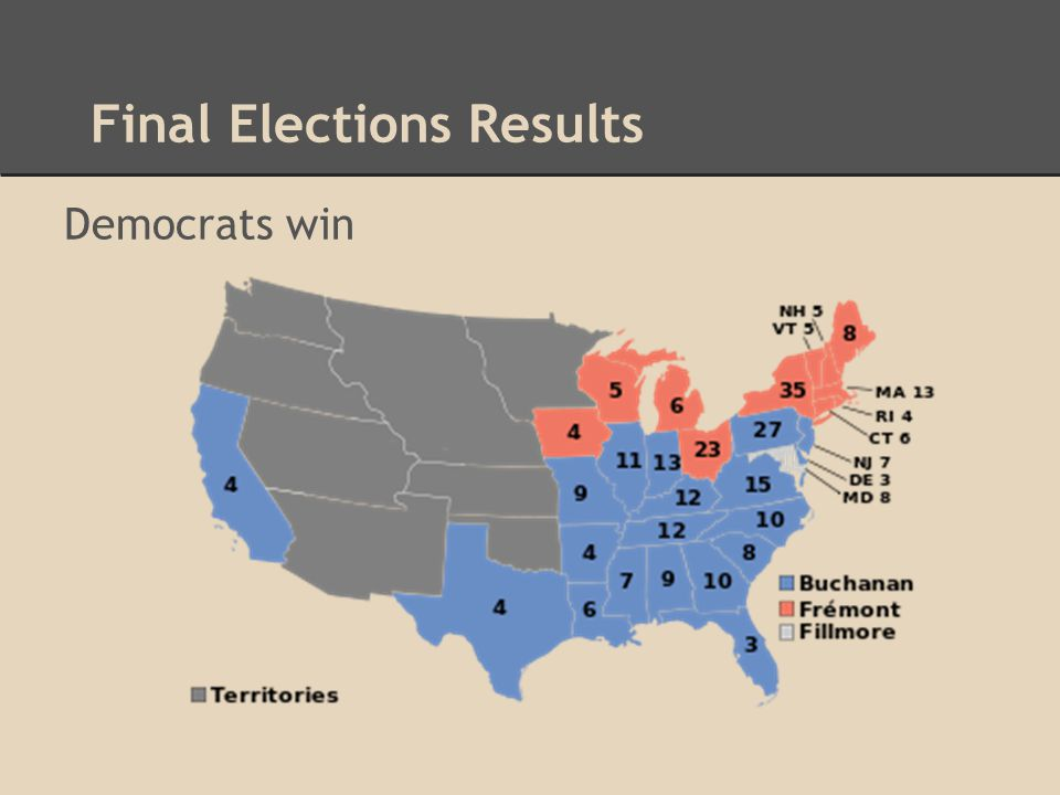 Final Elections Results Democrats win