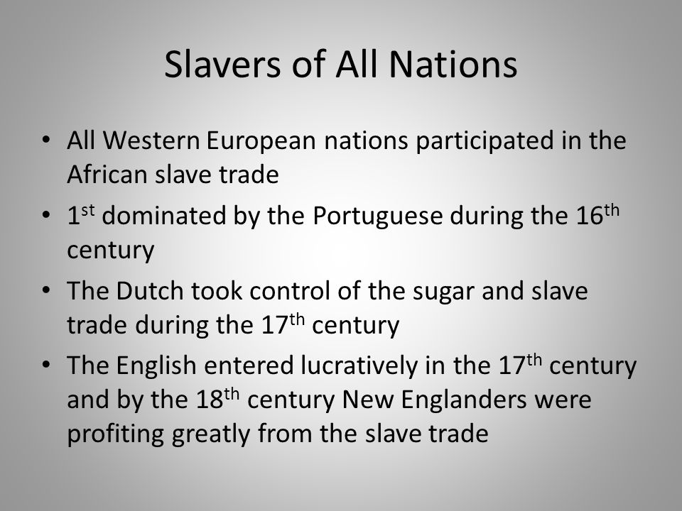 The Middle Passage Captives were kept in dungeons, separated from anyone, and branded: dehumanization Slaves were crammed into ships and packed into shelves 6 ft.